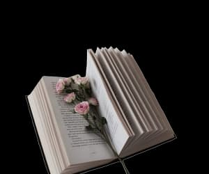 book, edit, and flowers image