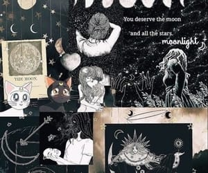 wallpaper, moon, and art image