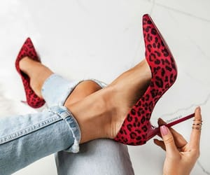 fashion, leopard, and red image