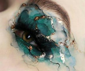 art, blue, and makeup image