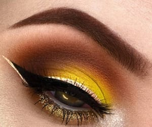 aesthetic, makeup, and yellow image