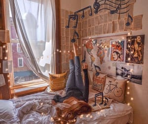 bed, bedroom, and cozy image