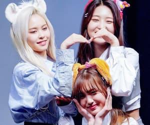 eu, everglow, and jiwon image