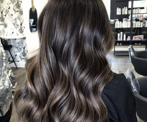 brunette girl, we heart it, and beach waves image