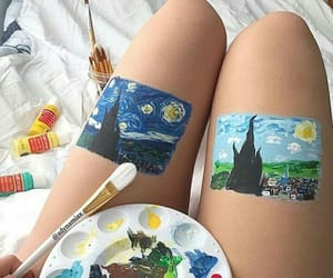 art, starry night, and beautiful image