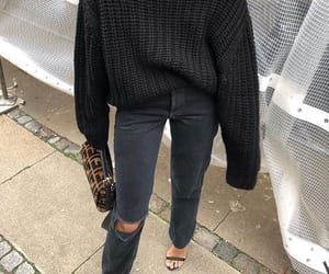 fashion, black, and denim image