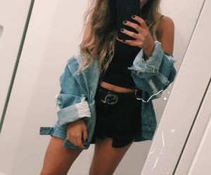 fitness, jean jacket, and accesorios image