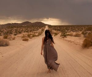 desert, girl, and lonely image