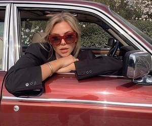 car, fashion, and red image
