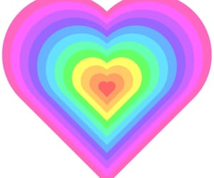 heart and rainbow image