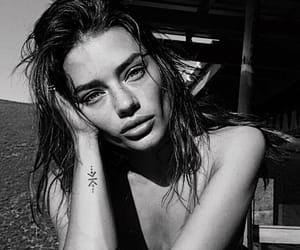 beauty, girl, and black image