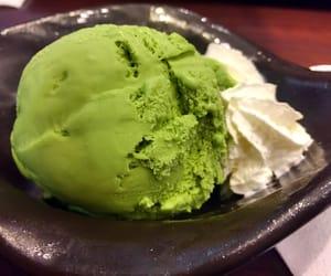 green tea and ice cream image