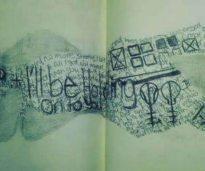 art, drawing, and words image