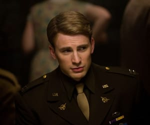 chris evans, captain america, and steve rogers image