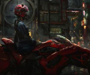 blade runner, girl, and bike image