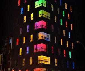 colors, night, and light image