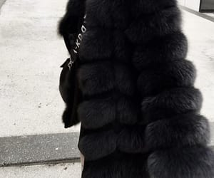 fashion, outfit, and fur jacket image