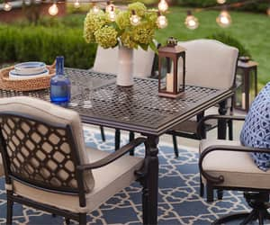 outdoor furniture and outdoor dining table image
