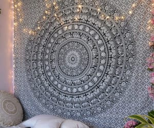 etsy, wall hanging, and hippie tapestry image