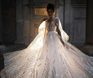 bride, crystal, and dress image