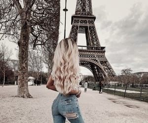 city, france, and hair image