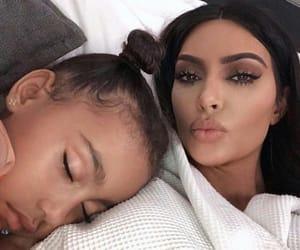 kim kardashian, north west, and kardashian image