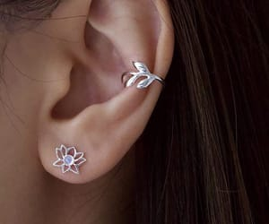 earring, theme, and floral image