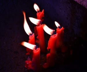 candles, aesthetic, and red image