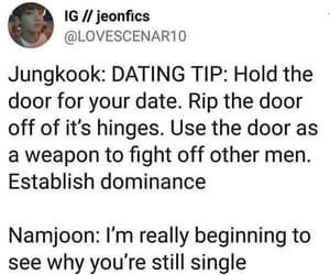 dating, funny, and jin image