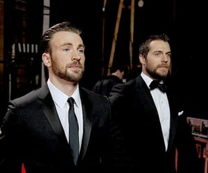 chris evans and Henry Cavill image