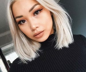 asian, blond, and style image