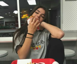 girl, food, and tumblr image