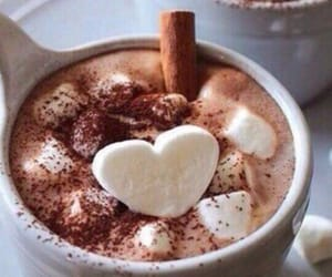 hot chocolate, coffee, and winter image