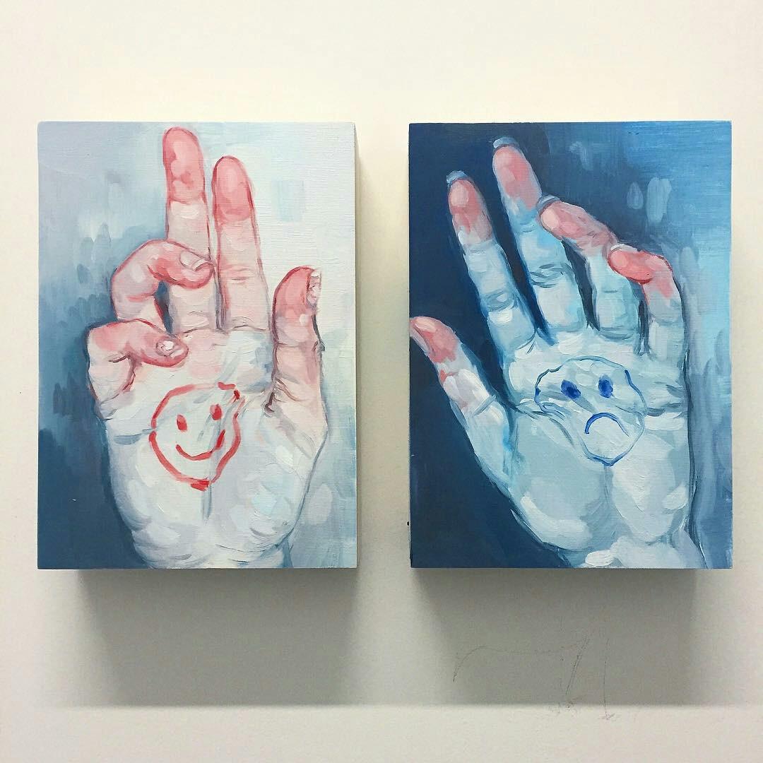 art, happy, and sad image