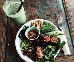 healthy, food, and green image
