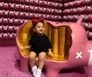 baby, stormi, and kylie jenner image