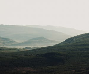 earth, foggy, and hills image