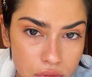 beautiful, brown eyes, and girls image