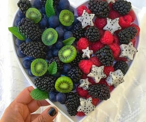 blueberry, fruit, and strawberry image