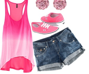 pink, vans, and outfit image