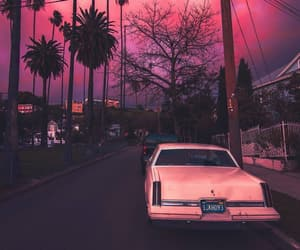 cars, night, and pink image
