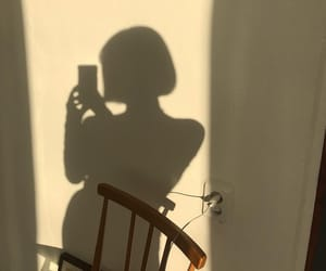 girl, shadow, and white image