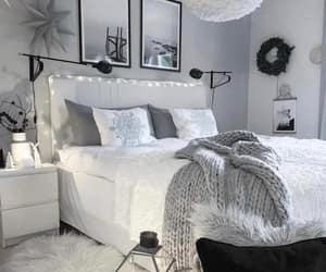 bed, bedroom, and home decor image