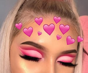 pink, makeup, and girl image