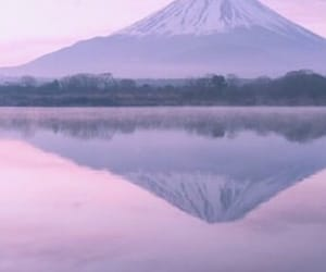 mountains, pink, and nature image