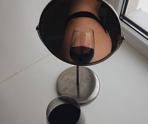 mirror, tumblr, and wine image