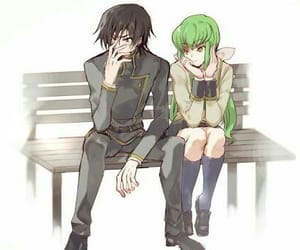 code geass, lelouch, and c.c image
