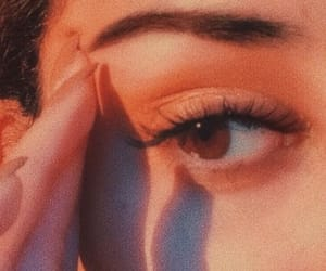 eyes, peach, and makeup image