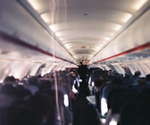 people and plane image