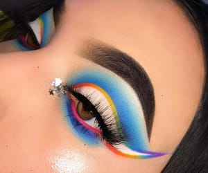 blue, lashes, and makeup artist image